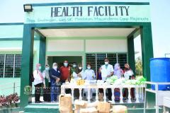 Health workers of Maguindanao pose after dispersal of medical facilities to MILF camps