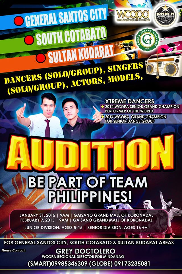 Audition on for World championship of performing arts in
